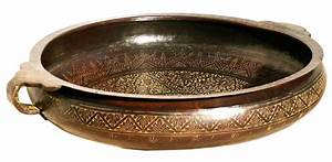 Brass Bidri Urli - Handmade Detail Indian Home Decor