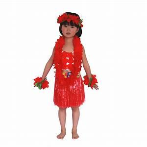 Child Kids Hawaiian Hula Dance Costume Fancy Party Skirt Headband Tops Dress Set | eBay