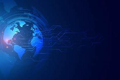 Technology Banner Digital Global Vector Circuit Diagram