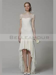 Robe de mariee dentelle civil ivoire vintage romantique for Robe romantique dentelle