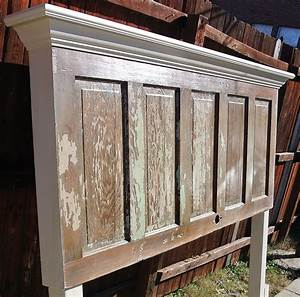 Hometalk 90 year old door made into a king size headboard