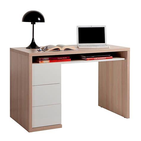 alinea le bureau bureau bicolore avec 3 tiroirs moneta bureaux adultes