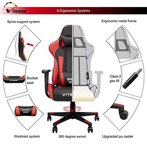 Vitesse Racing Seat by Vitesse Computer Gaming Chair Racing Style High Back Pc