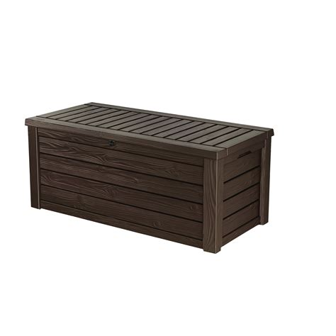 Keter 150 Gallon Deck Box Dimensions keter westwood 150 gallon resin deck box reviews wayfair