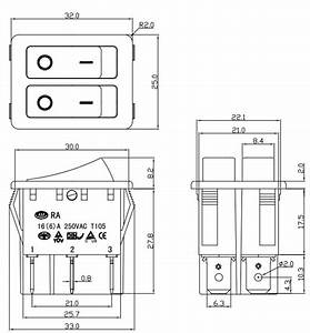 250vac 16a T100  55 Rocker Switch Wiring Diagram Supplier