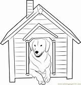 Coloring Dog Inside Pages Doghouse Pdf Template Coloringpages101 sketch template