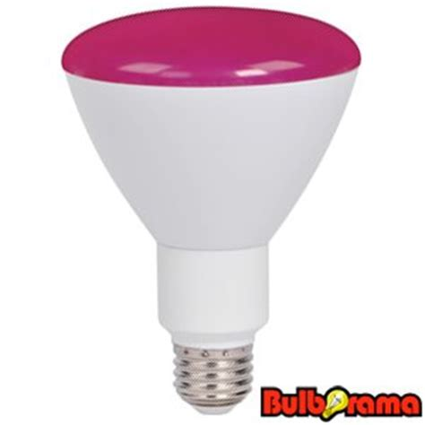 dimmable led br30 pink flood light bulb 9 watts pink supra