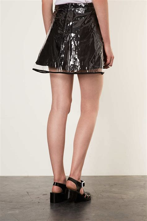 topshop clear plastic skirt  black lyst