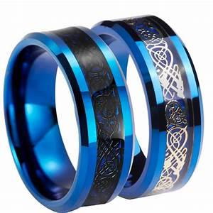 Aliexpresscom buy queenwish unique 8mm black gold for Tungsten celtic wedding ring