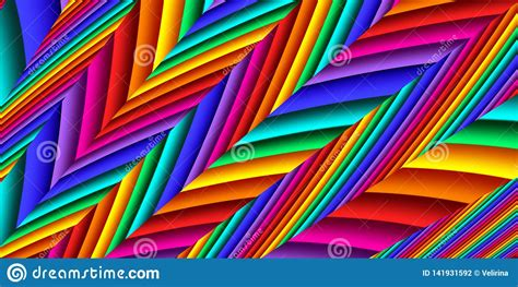 Bright Colorful Abstract Lines For Background Artwork For