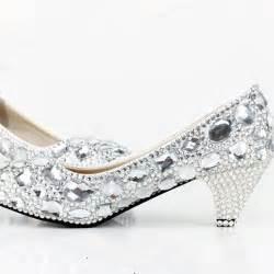 silver dress shoes for wedding handmade shining wedding shoes high heel silver bridal dress shoes rhinestone