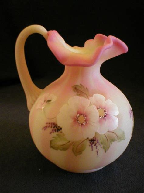 fenton burmese l fenton burmese bill fenton painted ewer from