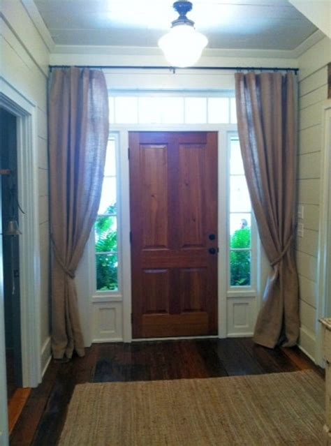 front door side window curtain rods 25 best ideas about sidelight curtains on