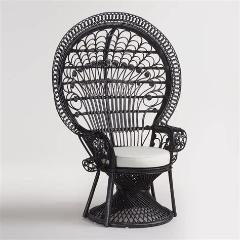 Peacock Armchair by Black Wicker Peacock Chair World Market