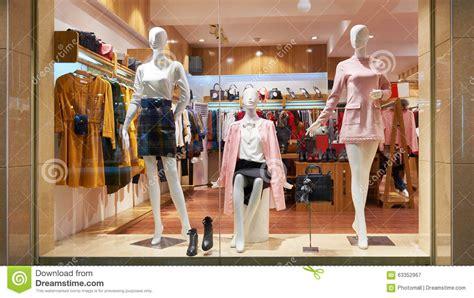 Image Clothing Store Fashion Shop Window Clothing Store Front Stock Photo