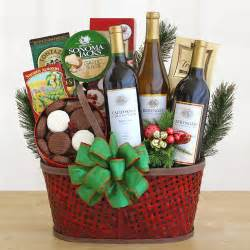 wine christmas gift holiday wine basket