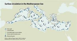 Surface Circulation In The Mediterranean Sea Grid Arendal