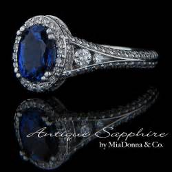 antique sapphire engagement rings antique blue sapphire engagement ring by miadonna antique blue sapphire engagement rings