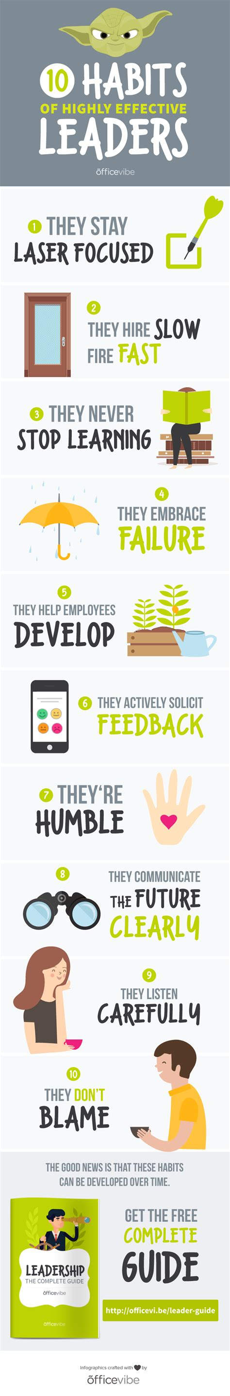 10 Habits Of Highly Effective Leaders [infographic]