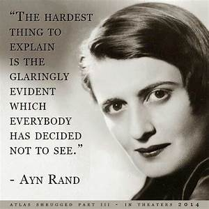 Inspirational A... Ayn Rand Philosophy Quotes