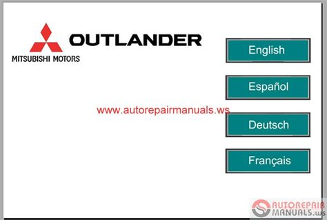 service manuals schematics 2006 mitsubishi outlander engine control mitsubishi outlander 2008 service manual auto repair