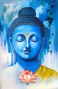 Lord Buddha Abstract Art Paintings | Religious paintings ...