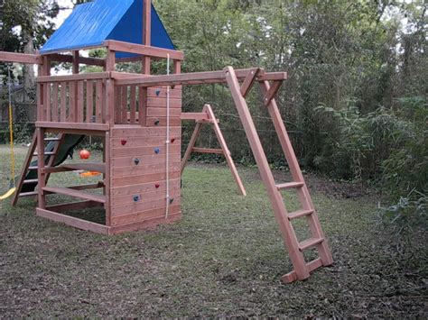backyard playset diy add on monkey bar plans