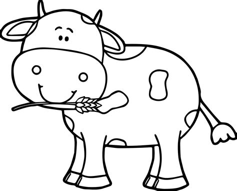 cow coloring page cow coloring page wecoloringpage