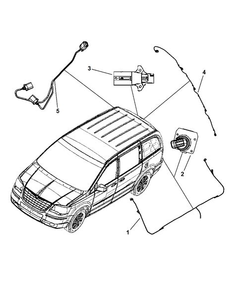 2010 Chrysler Town And Country Wiring Diagram Chassi by 68023999ac Genuine Chrysler Wiring Trailer Tow Package