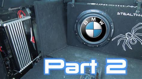 bmw  amplifier bypass subwoofer amp install part
