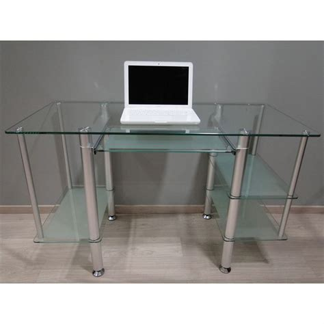 bureau en soldes bureau adulte en verre trempé et opaque 5 achat
