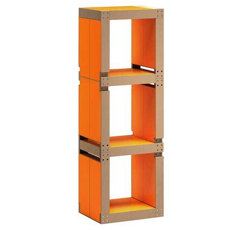 bureau etagere design etagère de bureau design orange structure ou bois