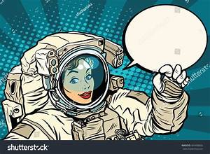 Ok Gesture Female Astronaut Spacesuit Pop Stock Vector ...