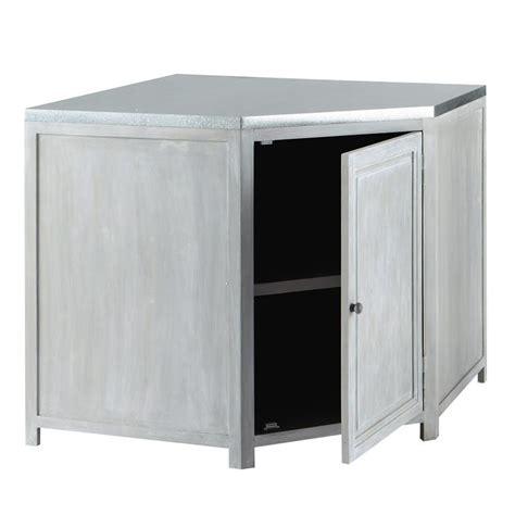 meuble d angle cuisine but meuble bas d 39 angle de cuisine en bois d 39 acacia gris l 99