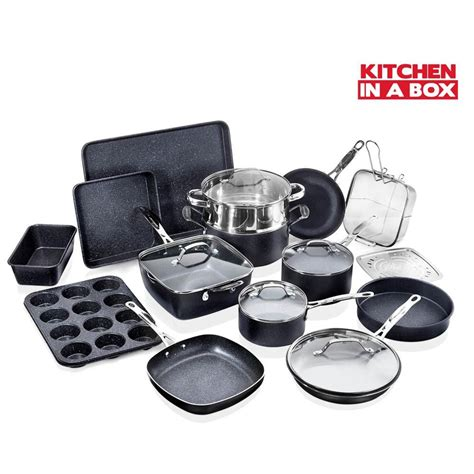 granitestone  piece aluminum ultra durable  stick diamond infused cookware  bakeware set
