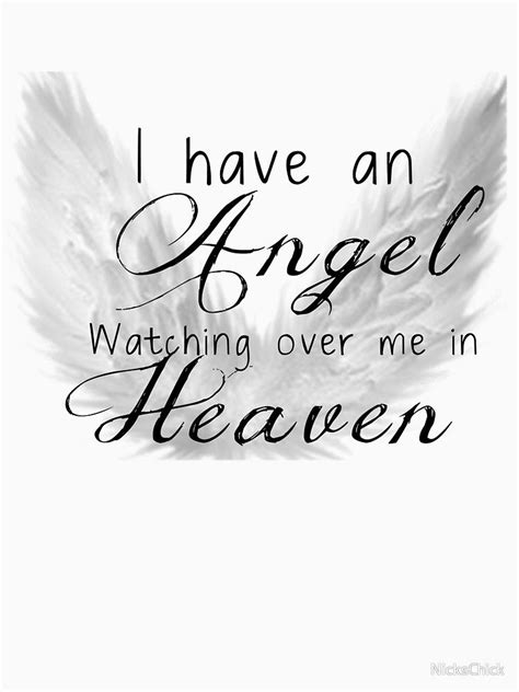 angel watching quotes heaven shirt angels sister baby faith redbubble