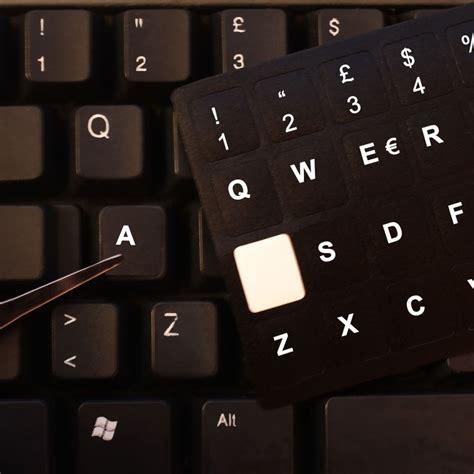 Adesivi Lettere by Tastiera Adesiva Lettere Tasti Nere Lettere Bianche