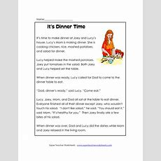 Free Printable Reading Comprehension Worksheets  Reading Classroom Or First Grade Reading
