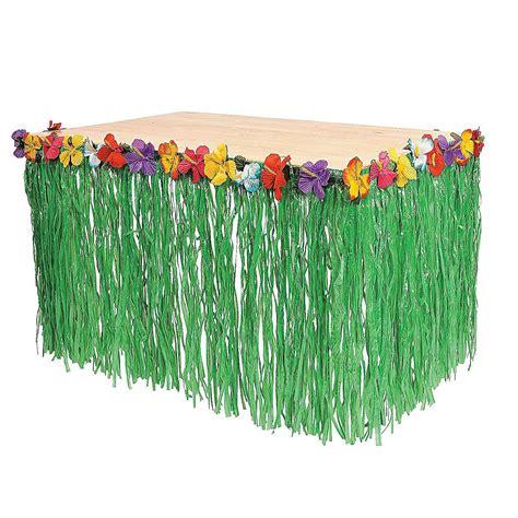tropical table ls cheap luau green artificial grass 9 foot hula table skirt moana