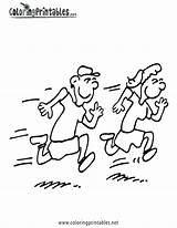 Running Coloring Children Drawing Track Jogging Run Race Fast Boy Kid Getdrawings Clip Person Getcoloringpages sketch template