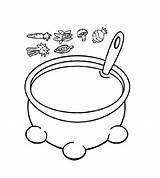 Soup Coloring Pumpkin Pot Printable Visit sketch template