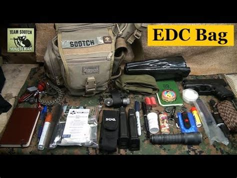edc bag  everyday survival youtube