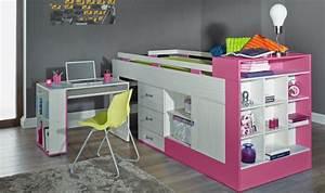 Lit Sureleve Enfant : lit combin avec bureau et rangement vera lit sur lev enfant pas cher ~ Teatrodelosmanantiales.com Idées de Décoration