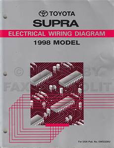 1998 Toyota Supra Wiring Diagram Manual Original