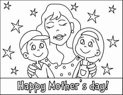 Coloring Pages Mother Mothers Printable Happy Colouring