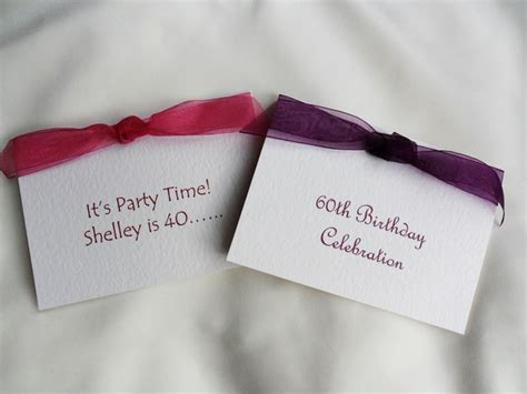 Personalised Birthday Invitations Party