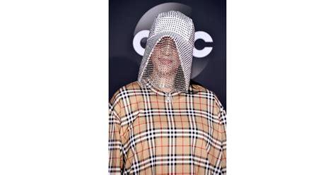 billie eilishs burberry chain mask   amas