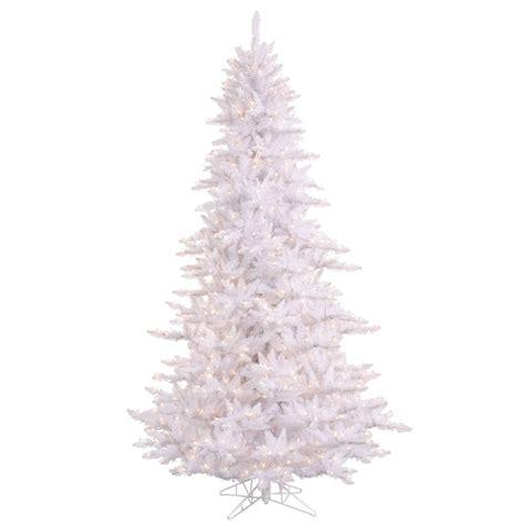 10 foot white fir christmas tree clear lights k120286