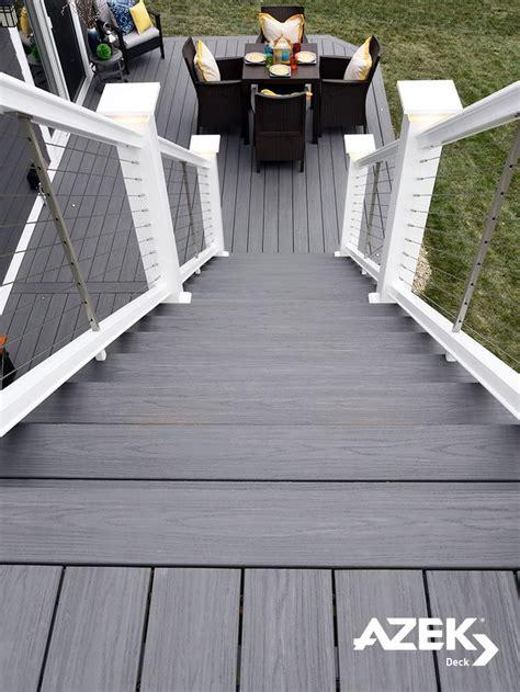 image result  grey deck  cable railing deck