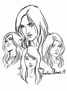 Female Face Line Drawing | www.imgkid.com - The Image Kid ...